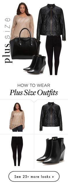 """Plus size"" by blackseed on Polyvore featuring Studio 8, Dana Buchman, Givenchy, Jette, Rupert Sanderson and plus size clothing"