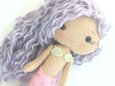 Felt Mermaid Doll  Gingermelon Doll  by PlatoSquirrel on Etsy, $42.00