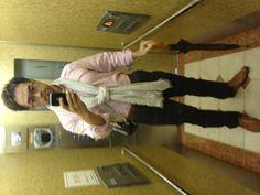 2012-09-18 Tue ピンクのシャツにストール。
