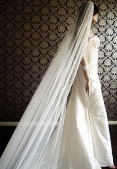 New Modern Couture Soft Bridal Veil Chapel Length by IheartBride, $100.00