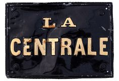 Vintage La Centrale Sign on OneKingsLane.com