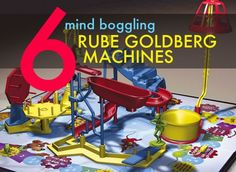 LOVE Rube Goldberg machines http://inhabitat.com/top-6-amazing-rube-goldberg-machines/
