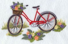 Free embroidery pattern for bicycles   Machine Embroidery Designs at Embroidery Library! - New This Week