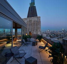 #outdoorliving #balcony #terrace | Grupo Habita Launches Two Sister Hotels In Chicago | Yellowtrace