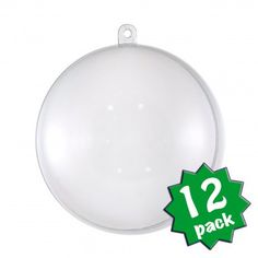 80MM Clear Fillable Ball Ornament: 12