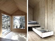 small wooden cabin in Trossö in Sweden designed by SEPTEMBRE / iGNANT