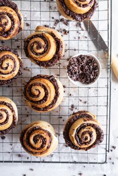 Earl Grey Buns with Dark Chocolate and Cocoa Nib Filling. Fluffy brioche dough is filled with an earl grey dark chocolate custard, and a crunchy cacao nib filling, then rolled up and sliced into buns. Once baked, the rolls are brushed with butter and roll Chocolate Brioche, Chocolate Custard, Chocolate Filling, Melting Chocolate, Healthy Recipes, Baking Recipes, Dessert Recipes, Brunch Recipes, Cocoa Nibs