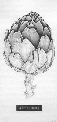 Title: 'Artichoke' Client: SLA Type: drawing / tattoo design / illustration Year: 2013 #foodart #kitchenart