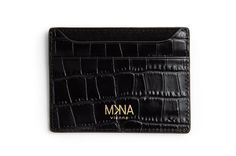 KARTENETUI CROCO – MKNA Card Holder, Wallet, Cards, Italian Leather, Handbags, Handarbeit, Pocket Wallet, Map, Playing Cards