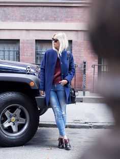 """""""This is what I would wear to the office, or to a meeting."""" @fashionguitar styles the Hilfiger Denim jumper with our ankle boots."""