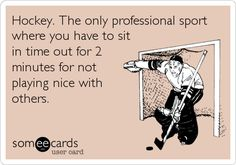 Also the only sport they allow you to fist fight until someone hits the ground. Go hockey!