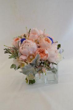 #bridal bouquet, #elegant, #chic, #romantic, #peonies www.plushflowers.ca
