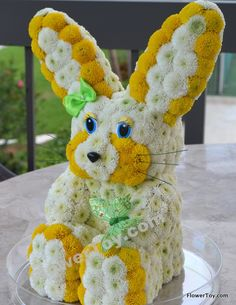 FlowerToy Bunny made from Fresh Flowers! We Ship Nationwide. www.FlowerToy.com