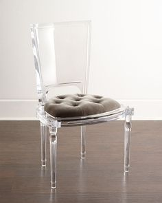 Katherine+Acrylic+Side+Chair+by+Global+Views+at+Neiman+Marcus.