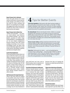Financial Planning - July 2014 - 4 Tips For Better Events