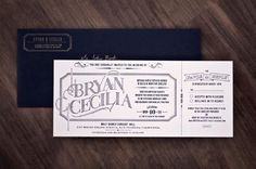 Great Idea for invites - after RSVP, send a personal package -- Arian Franz: Navy & Gold Wedding Inviation Package