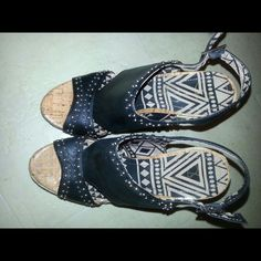 Jessica Simpson Studded Wedge Worn Once Jessica Simpson Shoes Wedges