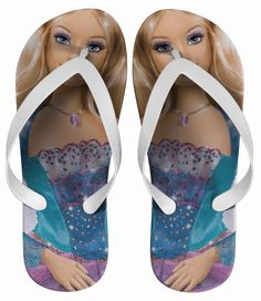 Chinelo Princesa Barbie Personalizado