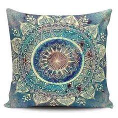 Cojin Decorativo Tayrona Store Mandala Azul 03 - $ 43.900