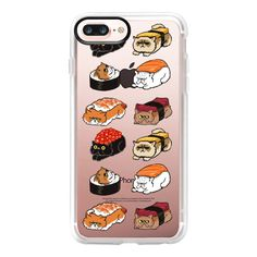 Sushi Cat - iPhone 7 Plus Case And Cover ($40) ❤ liked on Polyvore featuring accessories, tech accessories, iphone case, apple iphone case, clear iphone case, iphone cover case, iphone cases and cat iphone case