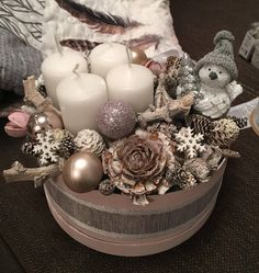 Items similar to Advent glittering wreath box on Etsy Advent Candles, Christmas Candles, Christmas Wreaths, Christmas Crafts, Advent Wreaths, Nordic Christmas, Modern Christmas, Winter Christmas, Reindeer Christmas