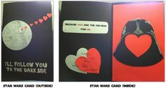 Nerdy home-made star wars valentine card for my fiance