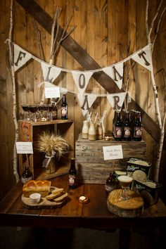 Root beer Float Bar  Rustic Inspiration Shoot by Simply by Tamara Nicole.  Vintage Ambiance Rentals. Amber French Photography.   Venue: Urban Enoteca. Featured on Rustic Wedding Chick.