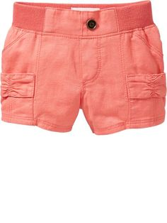 Linen-Blend Utility Shorts for Baby
