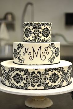 Damask Cake By Jays Catering Blog - Food for Thought Found At www.my-wedding-concierge.com