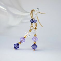 Around Wire: DIY: Crystal Dangle Earrings  + Video