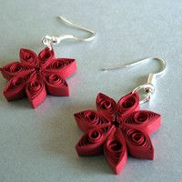 Diy Earrings Paper, Paper Quilling Jewelry, Paper Quilling Designs, Quilling Paper Craft, Quilling Patterns, Paper Crafts, Arte Quilling, Diy Artwork, Jewelry Making