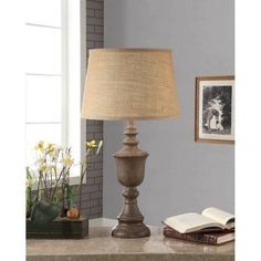 Better Homes and Gardens Rustic Wood Finish Table Lamp - Walmart.com
