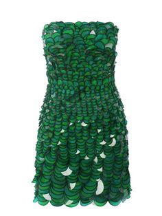 Green Strapless Dress by Diane Von Furstenberg