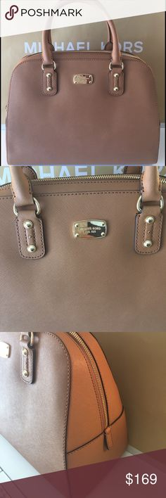🆕MICHAEL KORS NEW SHOULDER/CROSSBODY BAG 💯AUTH MICHAEL KORS NEW NEVER USED WITH TAGS LARGE HANDBAG/ SHOULDER BAG / CROSSBODY BAG 100% AUTHENTIC. SO STUNNING AND STYLISH! SUCH A BIG BEAUTIFUL ROOMY BAG. THE COLOR IS CALLED ACORN WHICH IS A LIGHT GOLDEN BROWN. GREAT  COLOR FOR ANY SEASON! IT HAS A GREAT REAR OUTSIDE POCKET AND FIVE WONDERFUL INTERIOR POCKETS. THE BAG MEASURES 13.5 INCHES WIDE AND 10 INCHES TALL. A VERY BIG BAG. IT COMES WITH A LONG ADJUSTABLE AND REMOVABLE SHOULDER…