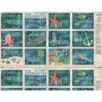 Under the Ocean Ocean Animal Book fabric by SewcialStitch1998