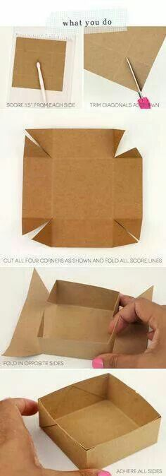 DIY Paper Box Tutorial – Simplest Box Ever - 14 Useful yet Unique DIY Gift Wrapping Tutorials You Should LearnDIY your Christmas gifts this year with GLAMULET. Kids Crafts, Diy And Crafts, Craft Projects, Arts And Crafts, Foam Crafts, Craft Gifts, Diy Gifts, Papier Diy, Diy Y Manualidades