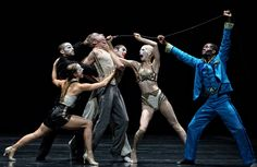 The cast of Betroffenheit at Sadler's Wells, London.