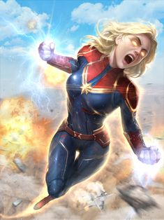 "Fan content""captain marvel"" fan art by yoonseok lee Marvel Fanart, Marvel Comics, Heros Comics, Bd Comics, Comics Girls, Marvel Heroes, Marvel Comic Character, Marvel Characters, Ramones"