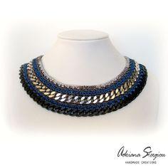 crochet & chain necklace www.jewelmyday.eu