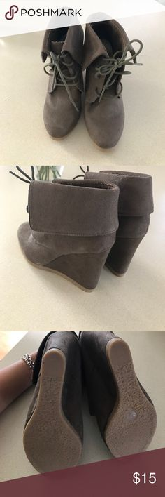 Booties Faux suede booties Mossimo brand taupe color Mossimo Supply Co. Shoes Ankle Boots & Booties