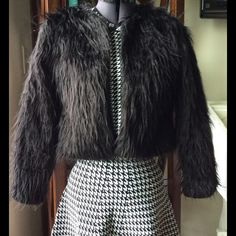 O Mighty Bitch Shaggy Crop Jacket -Sz Small O-Mighty B**** (Dollskill/UNIF/Urban Oufitters) Authentic. Awesome Boxy Retro Crop Shaggy Faux Fur Open Jacket.    Size Small (2/4)  Perfectly Shagged! Never worn outside.  Perfect condition. Originally $120 Omighty Bitch Jackets & Coats