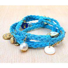 ブルー | グルグル巻いて手首をオシャレに着飾るブレスレット by MaFe Accessories