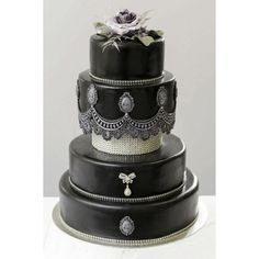 Gothic Wedding Cakes - Inked Magazine ❤ liked on Polyvore featuring home, home decor, goth home decor and gothic home decor