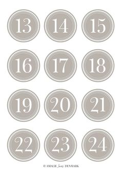 free Advent calendar 13-24