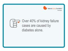 Diabetes is the leading cause of kidney failure and it affects 25.8 million Americans. Know your risk this Kidney Month!