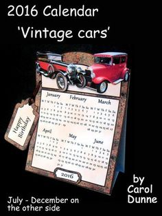 2016 Calendar Vintage cars on Craftsuprint - View Now!