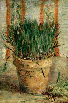 Vincent van Gogh - Maceta con cebollino