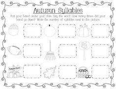 Autumn Syllables freebie