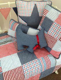 6 pce Thomas Boys Nursery Cot Quilt & decorator Cushion Package Linens N Things