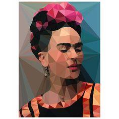 Studio Cockatoo Frida Kahlo 2 Portrait A2 Unframed Print: A Mexican painting legend. Frida Kahlo print by Studio Cockatoo.